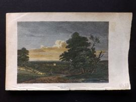Beauties of England & Wales C1810 HCol Print. Hornsea, Middlesex, London